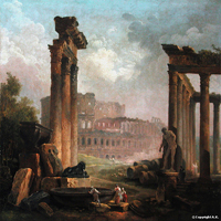 hubert robert colisee antique